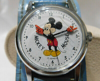 RARE 1960's VOUMARD MICKEY MOUSE WATCH WALT DISNEY PRODUCTIONS