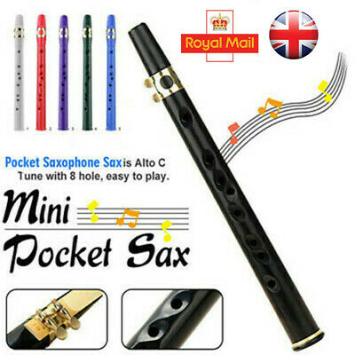 Mini Portable Pocket Bb Saxophone ABS Sax Woodwind Instrument with Carrying Bag