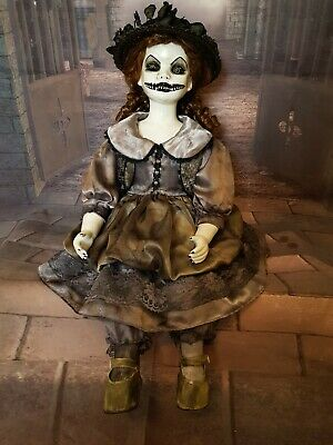 Creepy Gothic Horror Haunted Porcelain Art Doll Ooak