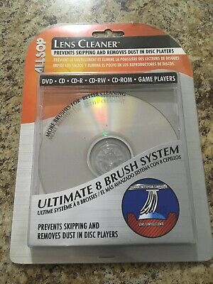 NEW Allsop Ultimate 8/Eight Brush System CD Laser Lens Cleaner 56500