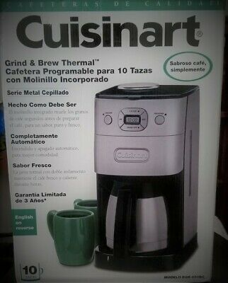 Cuisinart DGB-650BC Grind-and-Brew Thermal 10-Cup Automatic Coffeemaker, NIB
