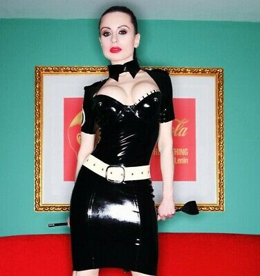 Inner Sanctum Latex Military Pencil Dress Uniform Fetish Rubber Officer Cosplay
