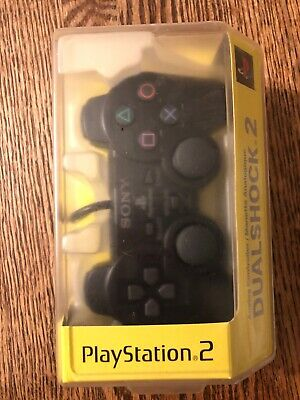 NEW SEALED PS2 Dualshock 2 Analog Controller Black Playstation Sony Genuine OEM
