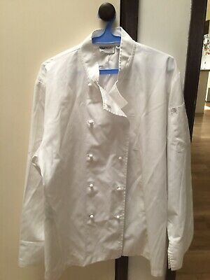 3 x Chef Jackets Size M White Chef Works Executive Long Sleeve Chef's Uniform