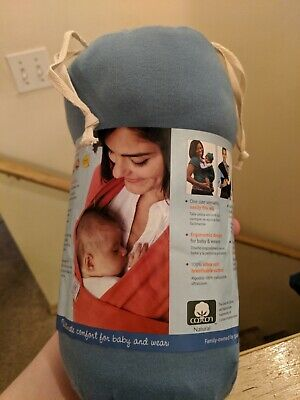 Moby Wrap Cotton Baby Carrier, Baby Wear, Cotton Baby Wrap, Blue 8-35 Lbs