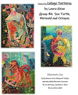Teeny Tiny Collage Quilt Patterns Group #4 By Laura Heine of Fiberworks
