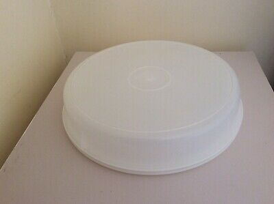 RETRO LARGE ROUND TUPPERWARE CONTAINER with LID