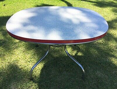 Vintage 50s diner formica dining table with spider legs laminate RYDE NSW