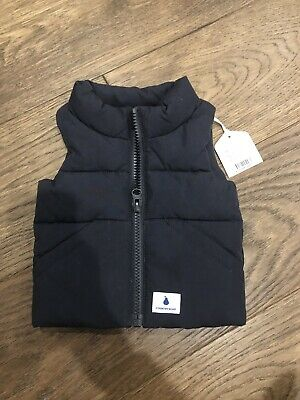 Brand New Kids Baby Country Road Navy Puffer Vest Size 000 0-3months