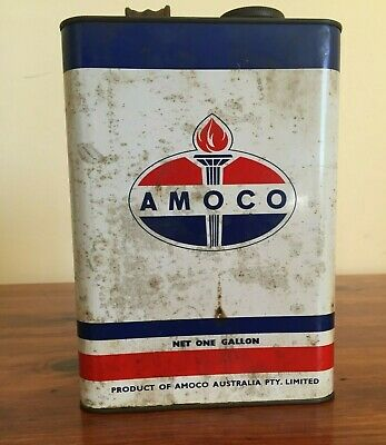 Amoco one gallon vintage oil can tin petrol and collectables