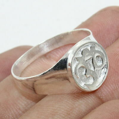 Regious 'OM' 925 Sterling Silver Cameo Ring Jewelry - ANY SIZE 4 TO 12