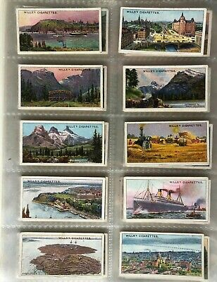 Wills Cigarette Cards C1914 - Overseas Dominions - Canada - 50 cards Full Set