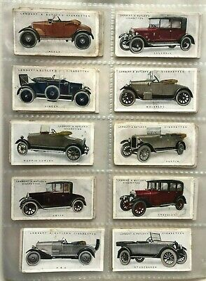 Lambert & Butler Cigarette Cards C1922-  Motor Cars  - 25 cards Full Set