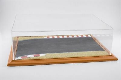 Race Track Diorama Display Case Cherry Wood Hand Made 1:18/1:24 Atlantic-Case