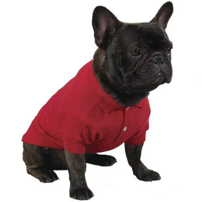 Dog Pet Puppy Cute Polo Tshirt Top Jumper (Red Green Blue Yellow) **UK STOCK**