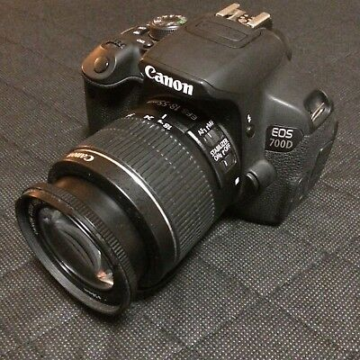 Canon EOS 700D with lens EFS 18-55 mm 1:3.5-5.6 IS II
