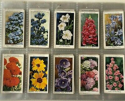Wills Cigarette Cards C1939 - Garden Flowers by Sudell-  50 cards Full Set