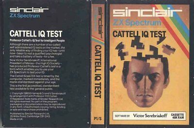 CATTELL IQ TEST By Victor Serebriakoff. Sinclair ZX Spectrum +Instructions/Boxed