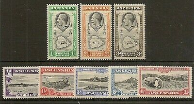 Ascension 1934 Pictorial Set To 1/- Sg21/8 Cat £33
