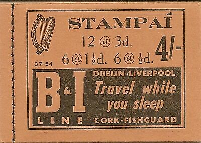 Ireland 1954 4/- Booklet 37-54 Sb10 Hb8