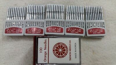 50 INDUSTRIAL SEWING MACHINE NEEDLES for LEATHER  Size  18/19/21/22/23 Korean