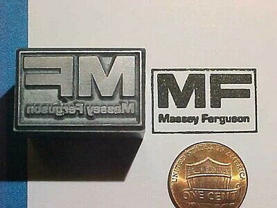 MASSEY FERGUSON TRACTOR Logo Farm HEAVY EQUIPMENT! OLD! Letterpress Printers Cut