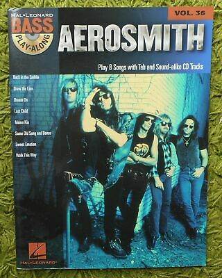 Aerosmith - Bass Play Along Volume 36: 8 Songs + CD Notes & Tabs Clean Unwritten