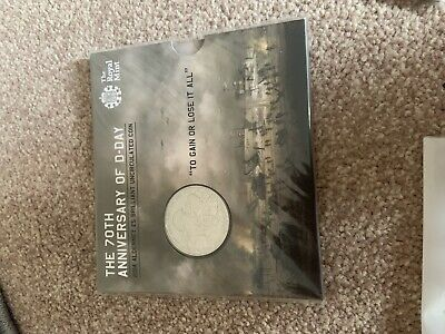 UK Britain Royal Mint 2014 70th Anniversary of the D-Day £5 BU Coin Pack Sealed