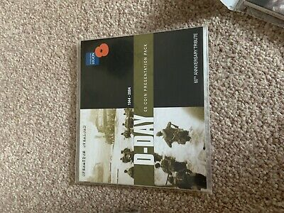 2004 D-day Coin Presentation Pack 60th ANNIVERSARY TRIBUTE ROYAL MINT