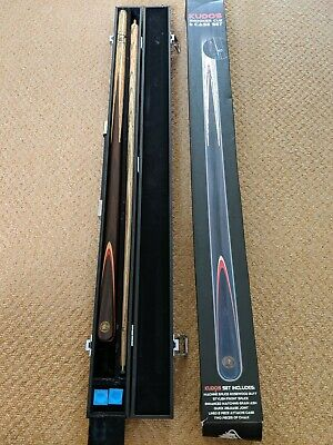 "John Parrott Kudos PowerGlide 57"" 18oz Snooker/Pool Cue and Hard Case and box"