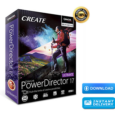 ✔️✔️ CyberLink PowerDirector Ultimate 17 | Latest Version |🔑 Download license |