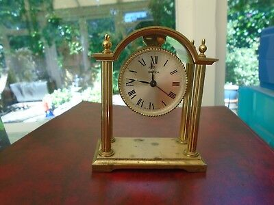 Vintage Swiza 8 Mantle Alarm Clock Good Working Order Bought 1967