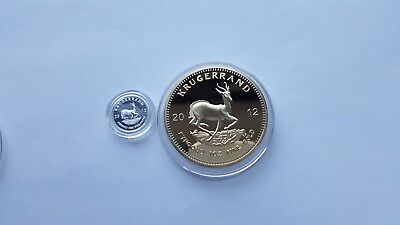 2012 1oz Gold South Africa Krugerrand. EP.and x1 999 silver 1 gram coin'.