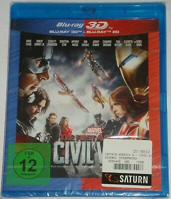 The Fist Avenger Civil War  3D & 2D   Blu Ray  Marvel  NEU OVP