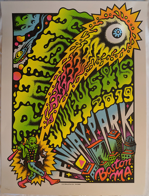Phish 2019 Official Tallboy Concert Poster, Fenway Park, Boston Massachusetts