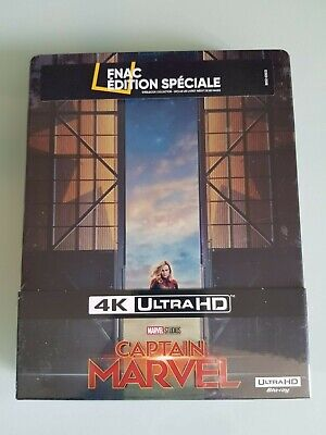 Steelbook Blu Ray Captain Marvel 4K Ultra Hd + 2D Edition Fnac Neuf Sous Blister