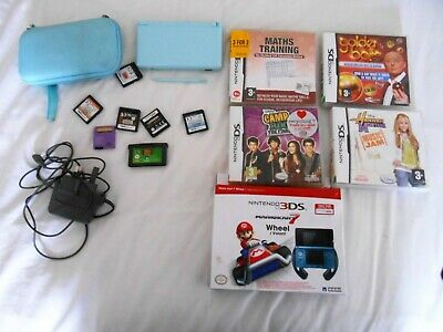 Nintendo Ds Lite - Handheld Game Console In Icy Blue Bundle