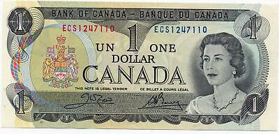 1973 ONE CANADIAN DOLLAR BANKNOTE, VERY FINE, MINT CRISP CONDITION Discontinued