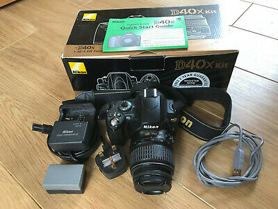 Nikon D40x Digital SLR Camera with 18-55mm AF-S Nikkor Lens - Black (10.2MP)
