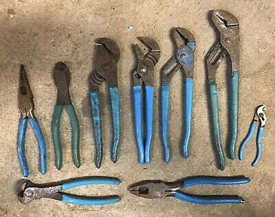 Lot Of 9 Channellock Pliers Mixed Set