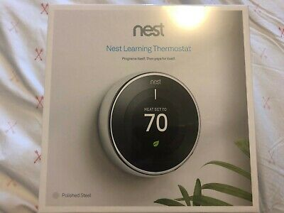 *BRAND NEW SEALED* Nest 3rd Generation Thermostat - Polished Steel