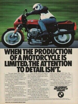 Put Lifes Complexities Behind You VINTAGE ADVERTISEMENT 1983 BMW R65 Motorcycle