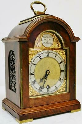 Vintage Charles Frodsham Clockmaker To The King Mahogany Mantel Carriage Clock