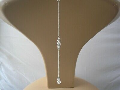 Crystal Backdrop Attachment for a necklace back chain for bridesmaid bridal 91c
