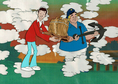 GILLIGAN'S ISLAND Animation Production Cel ~GI093~ SKIPPER And GILLIGAN