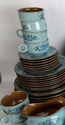 Taylor Smith Taylor Vintage 1968 AZURA China 8 Coffee Cups & 8 Saucers Only