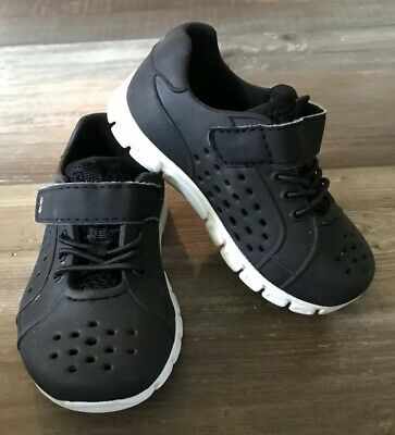 Surprize by Stride Rite Toddler Boys Black White Tex Land /& Water Shoes Size 8