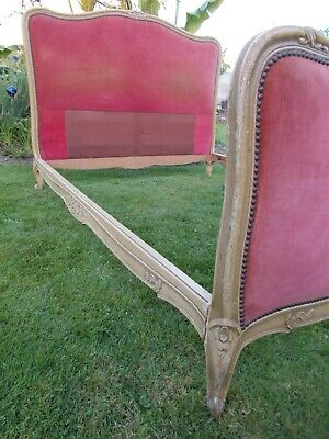 French Bed Double Bed Vintage Antique Capitonne Style