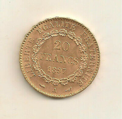 Piece 20 Francs Or Genie 1895