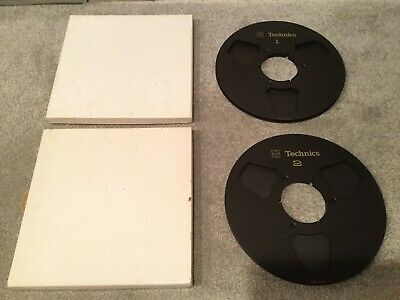 "Vintage Original Technics 10.5"" Metal Reel To Reels (Technics #1 & #2)"